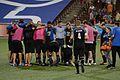 CINvCLE 2017-05-17 - FC Cincinnati huddle (34627469742).jpg