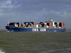 CMA CGM Debussy p3, leaving Port of Rotterdam, Holland 21-Jan-2007.jpg