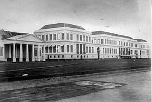 Colonial architecture of Indonesia - The Palace of Daendels, completed in 1828.