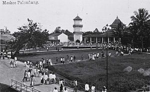 Great Mosque of Palembang - People around the ground of the Great Mosque.