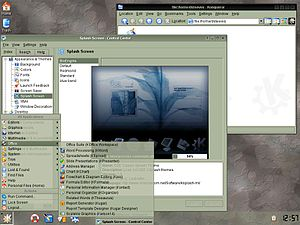 Screenshot of Crux Dekstop KDE
