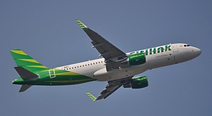 Citilink - One of Citilink's newest sharklet equipped A320, prior to delivery at Toulouse Airport