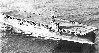 USS Gambier Bay - The Gambier Bay underway.