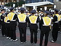 Cal Band on Lower Sproul before 2008 Big Game pregame rally 2.JPG
