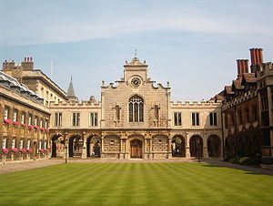 "Richard Crashaw - The Old Court at Peterhouse, Cambridge, the oldest constituent college of the university, which Crashaw described as ""a little contentfull kingdom"""