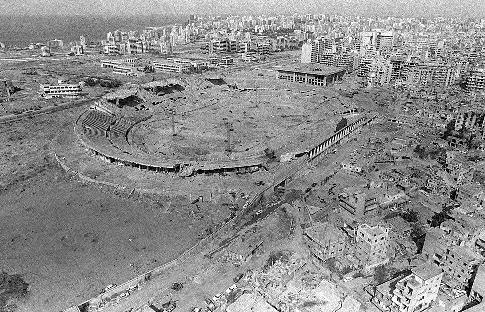 Camille Chamoun Sports City Stadium 1982 - Aerial