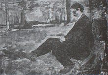 Camille Van Camp , Hippolyte Boulenger, esquissant à Tervuren . [réf