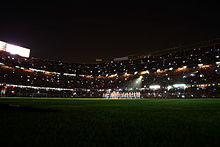 vue intérieure et de nuit d'un stade