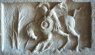 Lacus Curtius - Marcus Curtius (Roman relief unearthed in 1553, Tabularium)