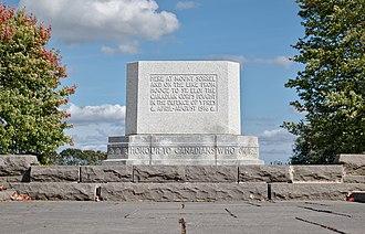 Hill 62 Memorial - Granite block monument