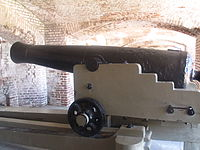 Cannon display at Fort Sumter IMG 4528