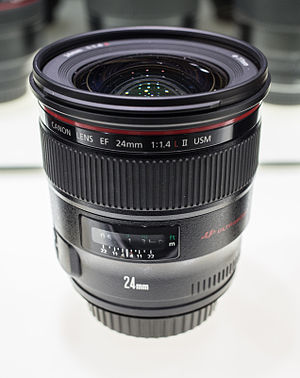 Canon EF 24mm lens - Image: Canon EF 24 f 1.4
