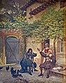 Capitole Toulouse - Salle du Conseil municipal - Molière et Goudouli - Debat-Ponsan 1907.jpg