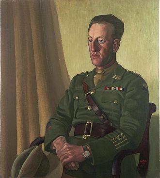 Albert Jacka - Captain A Jacka, VC, MC and Bar (1919) by Colin Gill (Art. IWM ART 1915)
