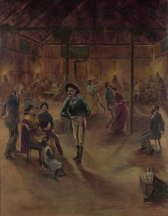 Robbery Under Arms - Patrick William Marony, Starlight's hold-up at the dance hall, 1894
