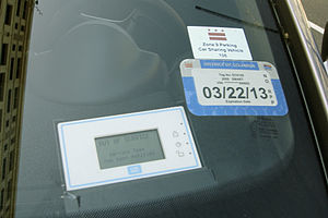 Car2Go - car2go member card reader that allows access to the vehicle