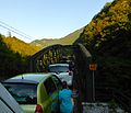 Car Train on an Narrow Bridge (9519897918).jpg