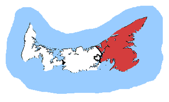 Cardigan (electoral district) - Cardigan in relation to the other Prince Edward Island ridings