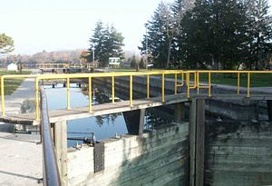 Trenton, Ontario - Lock One on the Trent-Severn Waterway at Trenton