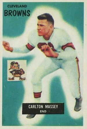 Carlton Massey - Massey on a 1955 Bowman football card