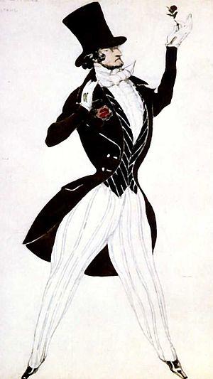 Carnaval (Schumann) - Costume sketch by Léon Bakst