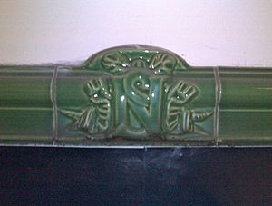 Nord-Sud Company - Typical Nord-Sud tile, on the former line A (today's line 12).