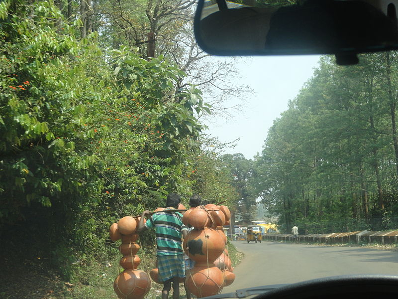 File:Carrying pots to the market at araku valley (2).JPG