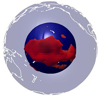 Large low-shear-velocity provinces - Cartoon of the Pacific LLSVP