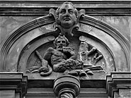 Carving of satyr, Dumfries