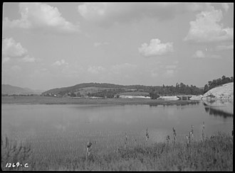 Cove Lake State Park - Caryville Lake in 1936
