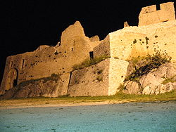 Castello d'Evoli by night