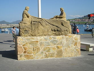Castro Urdiales - Monument on the waterfront in Castro Urdiales.