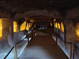 Catacombs of Milos - The Main Hall of the catacombs.