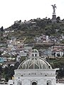 Catedral Metropolitana (Dome), A cool view from the Roof deck (Palacio de Pizarro), Historic Center of Quito, pic.r2d2, Panoramics views of El Panecillo, Quito.jpg