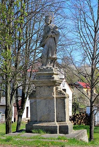Cebiv - Image: Cebiv, John of Nepomuk statue