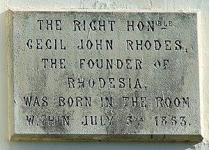 Rhodes Arts Complex - Cecil Rhodes Plaque