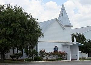 Cedar Creek, Texas - The 1910 sanctuary of the Cedar Creek United Methodist Church.