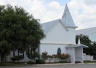 Cedar Creek, Texas - The 1910 sanctuary of the Cedar Creek United Methodist Church.
