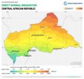 Central-African-Republic DNI Solar-resource-map GlobalSolarAtlas World-Bank-Esmap-Solargis.png