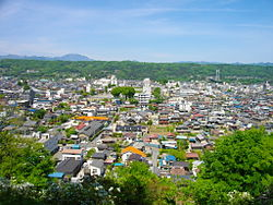 View of central Chichibu, from Hitsujiyama Park