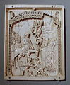 Central panel from a Triptych with the Entry of Christ into Jerusalem, Constantinople, 10th century, ivory - Bode-Museum - DSC03499.JPG