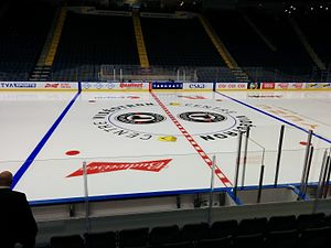 Quebec Remparts - Remparts centre ice at Centre Vidéotron