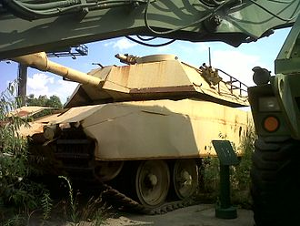 Courage Under Fire - A Centurion tank modified to look like an M1A1 Abrams used in the film, located at the Russell Military Museum