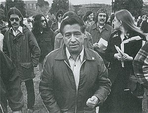 Colegio Cesar Chavez - Cesar Chavez visiting the campus in 1974