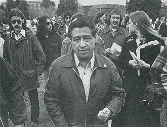 César Chávez (film) - César Chávez at public protest to support Colegio Cesar Chavez in 1974.