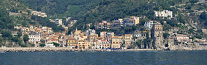 Cetara, Campania - Panoramic view of Cetara