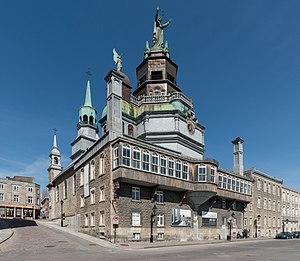 Notre-Dame-de-Bon-Secours Chapel - Image: Chapelle Notre Dame de Bon Secours, Montréal, Southeast view 20170410 1