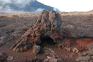 Hornito Conical structures built up by lava ejected through an opening in the crust of a lava flow