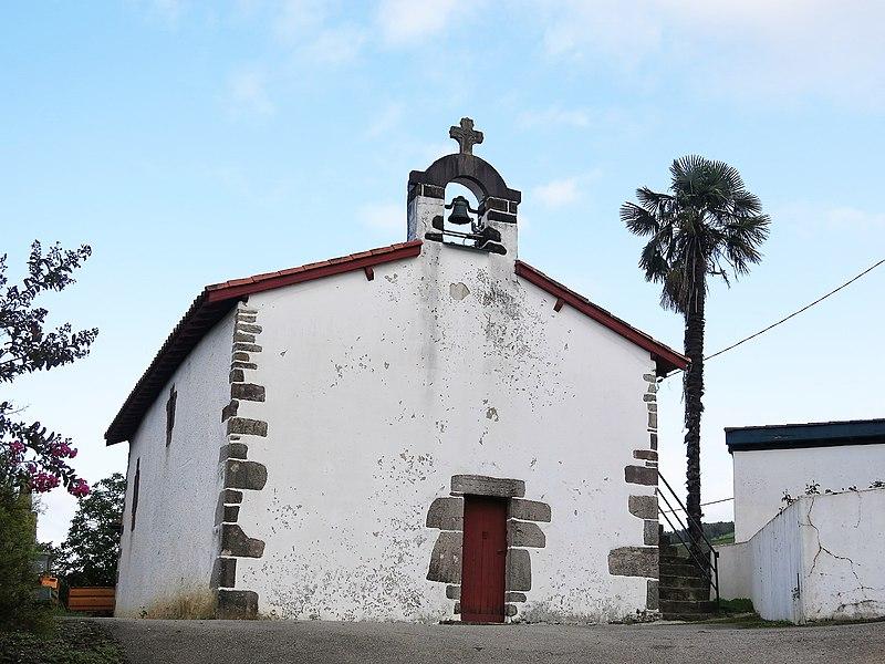 Chapel of Saint Lawrence in the hamlet of Guermiette in Saint-Étienne-de-Baïgorry (Pyrénées-Atlantiques, France).
