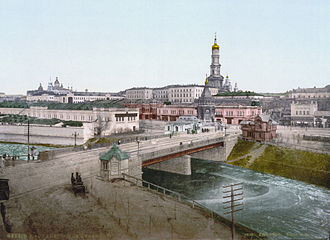 Kharkiv - 19th-century view of Kharkiv, with the Assumption Cathedral belltower dominating the skyline.
